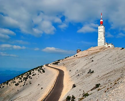 mt Ventoux bike ride event supported